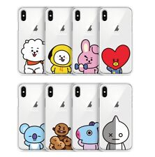 Official BT21 Clear Jelly Basic Phone Case Cover For iPhone X XS MAX XR Kpop BTS