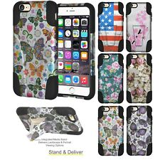 AMZER Double Layer Designer Hybrid Case with Kickstand For iPhone 6 Plus 6s Plus