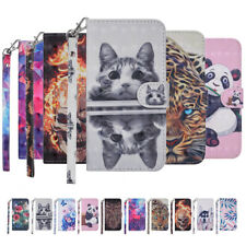 For iPhone X XR XS Max/6s 7 8 Plus SE Painted Magnetic Wallet Leather Case Cover