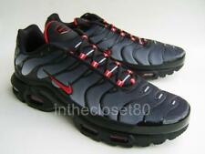 29bccd71cb Nike Air Max Plus Tn Tuned 1 Black Wolf Grey University Red Mens CI2299 001