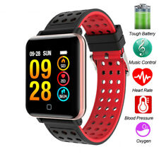 Smart Wristband Heart Rate Blood Pressure Monitor Bracelet Silicone Watchband