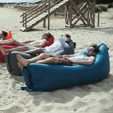 Outdoor Beach Sofa Portable Inflatable Camping Air Bed Lounger Sleeping Couch