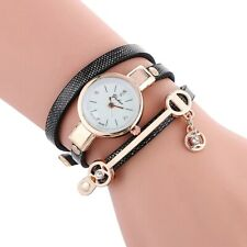 Creative Women's Quartz Analog Wrist Watch Leather Strap Bracelet Watches Gift