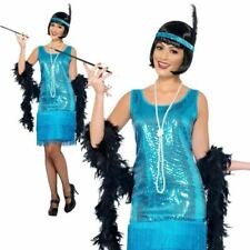 Ladies 1920s Roaring 20s Flapper Costume Charleston Gatsby Fancy Dress Outfit O