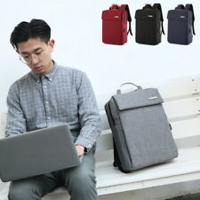 Anti-Theft Unisex Laptop Backpack Business Travel School Bag USB Charge Port h8