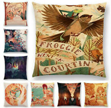 Party Painting Future Retro Cotton Linen Cushion Cover Sofa Throw Pillow Case