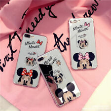 Cartoon Disney Minnie Mirror Soft Case Cover For iPhone 11Pro Max 7/8 Samsung S9