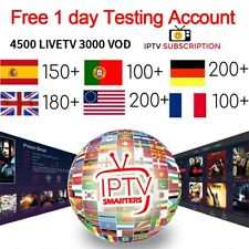 IPTV Subscription 1-12 Months - Free 24 hour trial