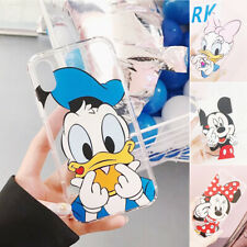 Cute Minnie Mickey Cartoon Disney Character TPU Case Cover For iPhone X 8 7 6S