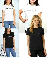 Womens Spice Up Your Life Slogan Print Short Sleve Ladies Round Neck T-Shirt Top