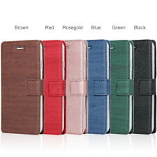 For iPhone XS Max XR X 8 7 6 Plus Ultra-thin Card Pocket Leather Flip Case Cover