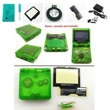 NEW GBA SP Game Boy Advance SP Replacement Housing Shell Transparent Clear Green