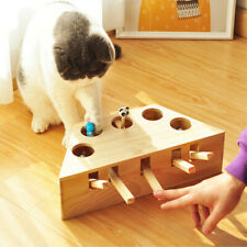 Cat Toys Pet Indoor Solid Wooden Cat Hunting Toy Interactive Cats Play Toy