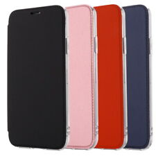 For iPhone XS Max XR 8 7 6s Plus Leather Silicone Hybrid Case Mirror Soft Cover