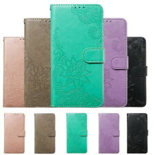 For iPhone 11 Pro Max XS XR 8 7 6 Plus Flower Texture PU Leather Flip Case Cover