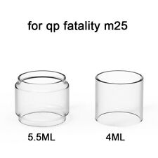 2PCS Replacement Straight Bubble Glass TUBE for qp fatality m25 4ML/5.5ML