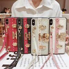 Flower Pattern Leather Metal Kickstand Case For iPhone 6S 78 Plus XS Max XR LV88
