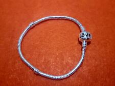 Love Charm Bracelet Chains Bangle Fit 925 Silver Sterling European charms Beads
