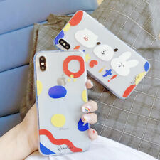 Cute Animal Cartoon Silicone Phone Case Cover For iPhone 8 7 6 Plus XR XS MAX