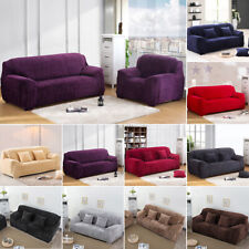 1 2 3 4 Seater Warm Plush Stretch Sofa Covers Protector Couch Cover Slipcover