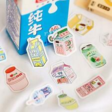 50Pcs Cute Plant Stationery Stickers Kawaii Drink Stickers Paper Adhesive Sticke