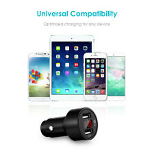 NEW Dual USB Car Charger With GPS Positiong Function Voltage Display 12V-24V
