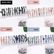 12Pcs/Set Women Hair Tie Ponytail Holder Hair Rope Elastic Rubber Band