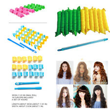12~18pcs Magic Curlers Long Hair Spiral Curl Formers Leverage Rollers 25~65cm
