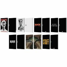 JUSTIN BIEBER TOUR MERCHANDISE LEATHER BOOK CASE FOR MICROSOFT SURFACE TABLETS