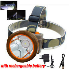 LED Headlamp Rechargeable bright fishing Head Torch lights flashlight AC Charger