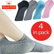 Non-Slip Yoga Socks Ballet Sports Gym Exercise Grips Cotton Pilates For Women UK