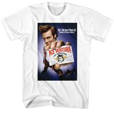 Ace Ventura Color Poster T Shirt Licensed Funny Movie Tee White