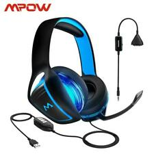 Mpow EG1Wired Gaming Headset 7.1 Surround Sound 3.5mm/USD Plug Gaming Headphone