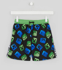 Official  Mojang Minecraft Creeper Shorts Age 5-15 Years BNWT