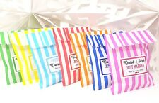 Personalised Wedding Favour  Sweet Bags LABELS ONLY Birthday Candy Cart