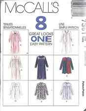 7361 UNCUT McCalls SEWING Pattern Misses Loose Fitting Robe Bathrobe