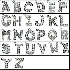 5 pieces 14mm Alphabet Letter Alloy Charm Pendants - Variety of Alphabet