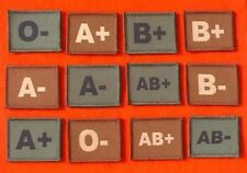 Velcro Backed Blood Group Badge A+ A- B+ B- O+ O- AB+ AB- Blood Group Patch