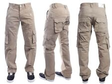 NEW MENS ETO EM226 BEIGE COMBAT STYLE CHINO JEANS  BARGAIN REDUCED SALE PRICE