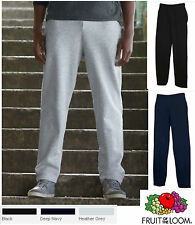 Jogginghose Fruit of the Loom Freizeit Jogging Hose Open Leg