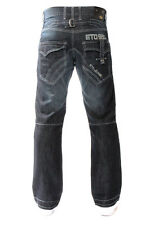 MENS BRAND NEW ETO DARK BLUE DESIGNER JEANS KING SIZES REDUCED SALE PRICE