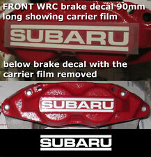 SuperGraphicsF1 brake decal sticker to fit Subaru WRC STI rally car 90 x2 Colour
