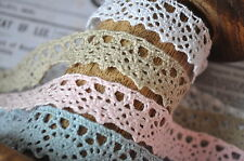 1M Berties Bows Antique Style Scalloped Cotton Lace Crochet Ribbon Wedding Craft
