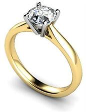 1ct Solitaire Diamond Unique  Engagement Ring 9ct Gold UK Hallmarked