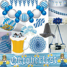 OKTOBERFEST Dekoration Bayern Party Bavaria blau weiss bayrische Deko Set Mass