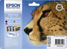 Epson Original OEM Multi Pack Inkjet Cartridges T0715 - T0711,T0712,T0713,T0714