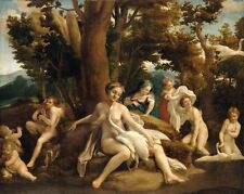 Leda & Swan Antonio Allegri Da Correggio 1532 Art Photo/Poster Repro Print Many