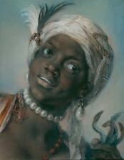 Africa Rosalba Carriera 1757-Art Photo/Poster Repro Print Many Sizes A0/85c