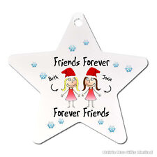 Personalised Friends Forever Best Friends Santa Christmas Tree Decoration Gift