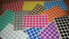 20mm Stickers White Yellow Red Orange Pink Green Blue Purple Black Silver Gold
